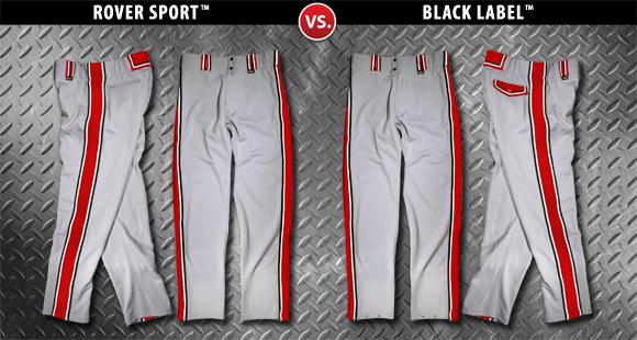 Rover Custom-Style Softball Pants are considered by many players to be the Best Softball Pants on the market today. Compare for yourself.